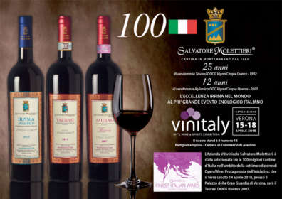 Salvatore Molettieri also for 2018 was included among the 100 Great Producers of OperaWine
