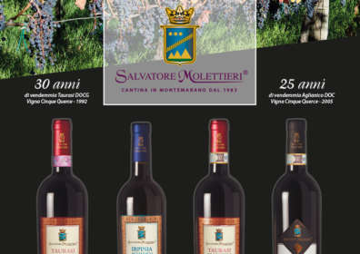 The Salvatore Molettieri winery will be present at Vinitaly for its 53ª edition
