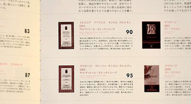 Menzionato tra i migliori vini d'Italia dalla rivista giapponese Winart