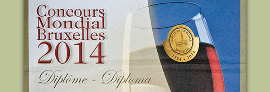Concours Mondial Bruxelles 2014: Medaglia d'Argento a Taurasi Riserva Vigna Cinque Querce 2006