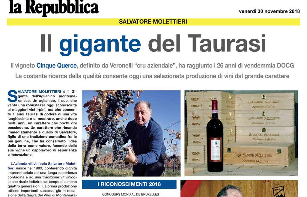 """Molettieri: """"Il Gigante del Taurasi"""""""