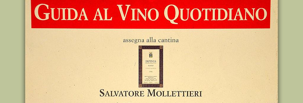 Guida al Vino Quotidiano di Slow Food Arcigola: etichetta simbolo di un vino dall'ottimo rapporto qualità/prezzo a Irpinia DOC Rosso 1996